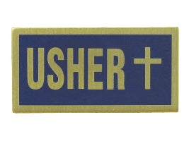 Blue Usher  Badge