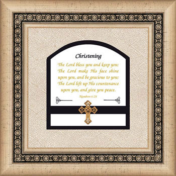 Christening Photo plaque