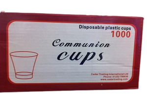 Clear Disposable Communion Cups - 1000