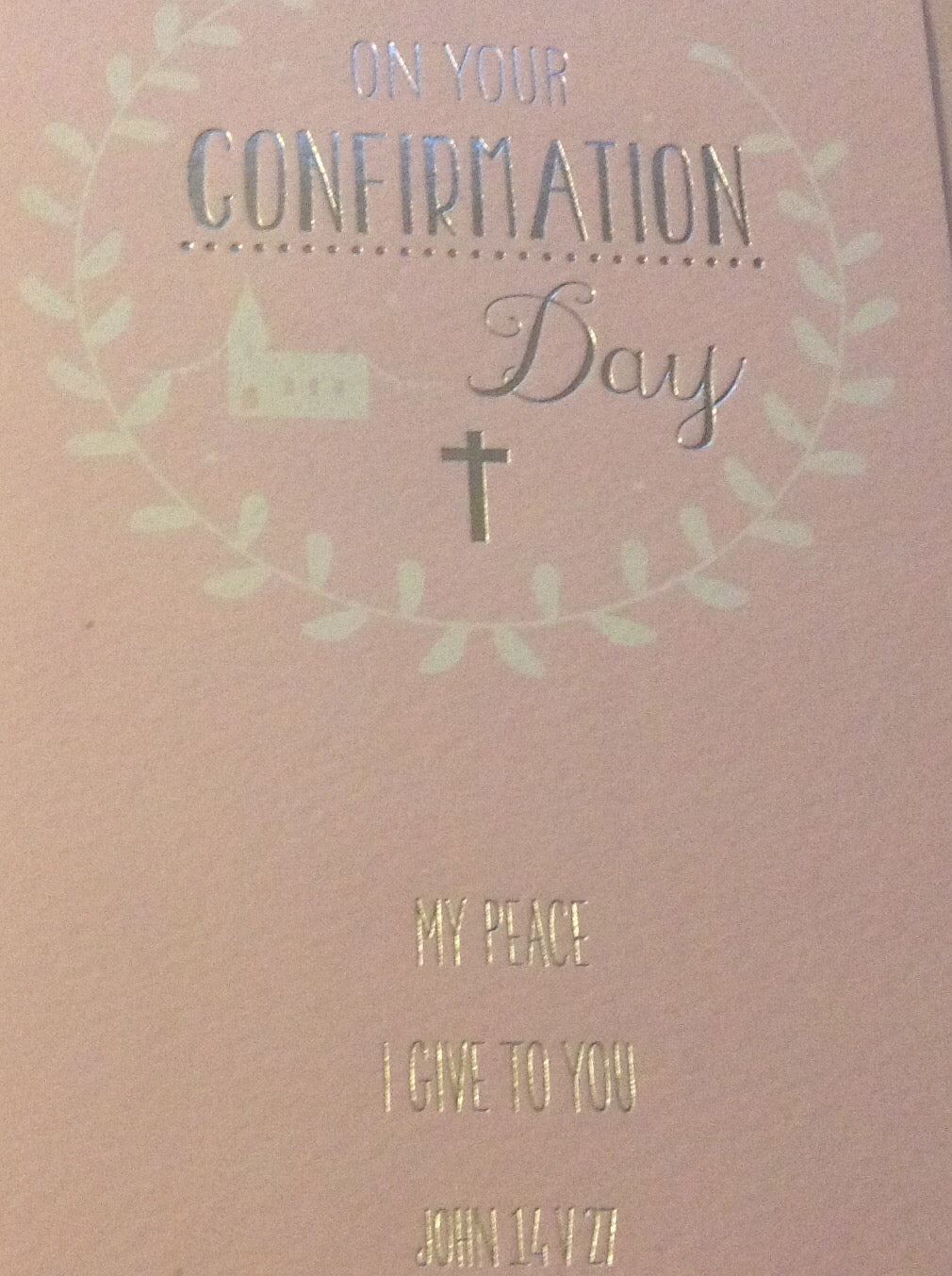 On Your Confirmation Day Pink