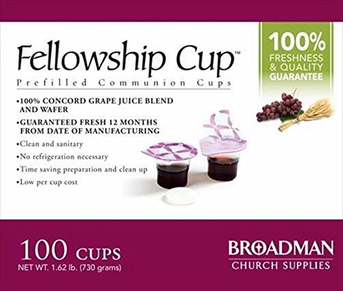 Prefilled fellowship Communion wine and Wafer 100
