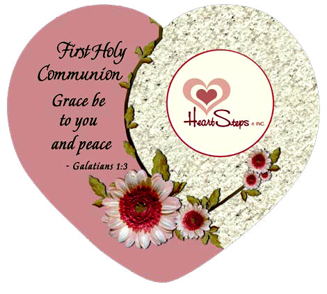 First Communion Heart Shape Frame