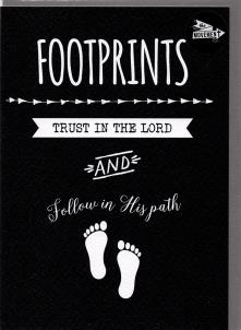 THE MOVEMENT INSPIRATIONAL CARDS  FOOTPRINTS