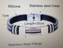Load image into Gallery viewer, Men's Health Bracelet Stainless steel silicon
