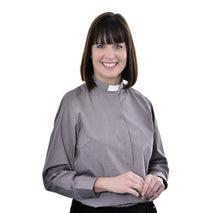 Load image into Gallery viewer, Womens Clerical Long Sleeve Shirt