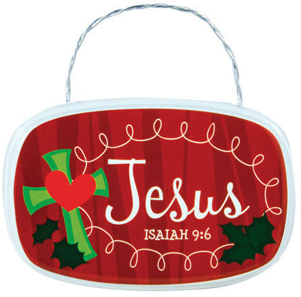 Hanging Plaque - Oval - Retro Plaque Ornaments - Jesus - Isaiah 9:6 3.5 In X 2 In