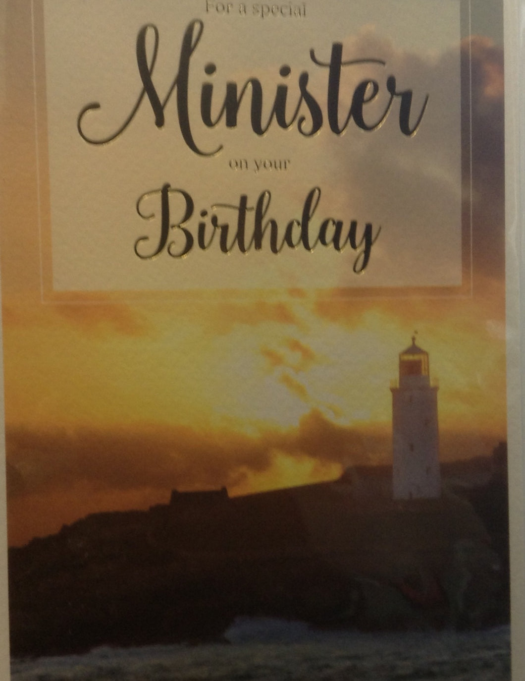 Minister Birthday Card