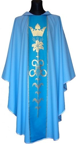 Marian Blue Chasuble