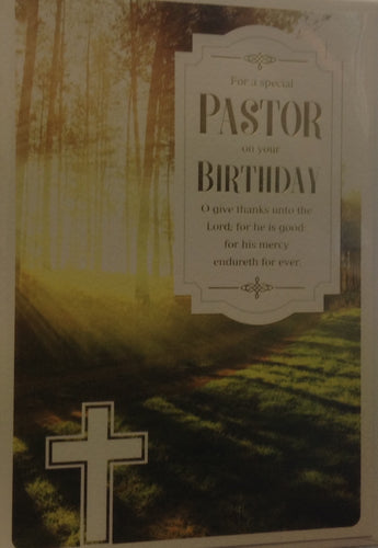 For a Special Pastor on your Birthday