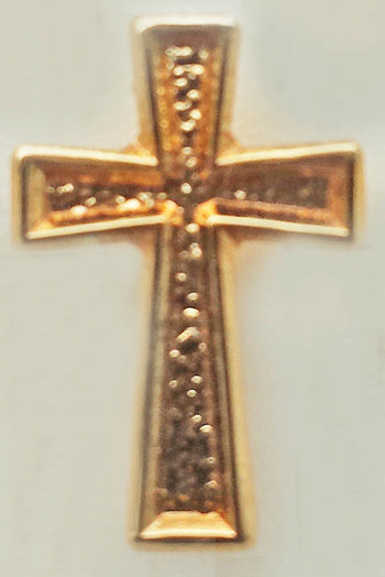 Lapel Pin  Cross Polished Gold Plated