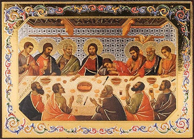 Wood Plaque/Icon - Last Supper