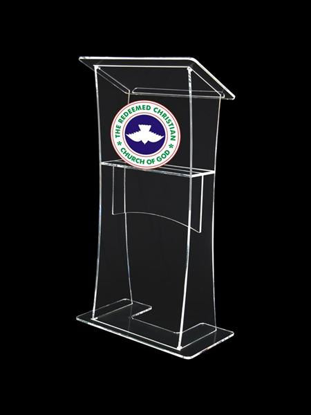 Lectern With Clear Front Panel