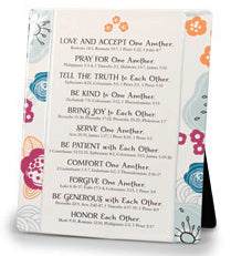 Plaque - One Another - Word Study Series - 8' X 10' Various Scriptures