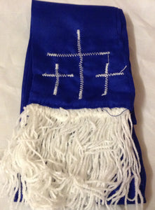 BLUE AMURE WITH 3 CROSS AND IKO (FRINGE )