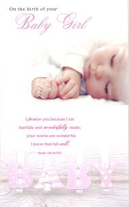On the Birth of your Baby Girl Card