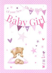 On the Birth of your New Baby Girl Card