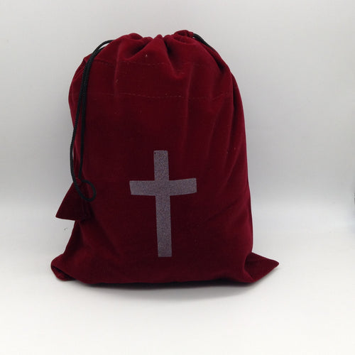 Soft Smooth Burgundy  Velvet Drawstring Pouches