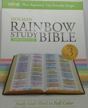 Load image into Gallery viewer, HOLMAN RAINBOW STUDY BIBLE NIV EDITION