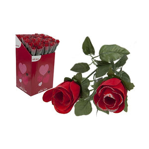 Deluxe Artificial Glitter Rose 55cm