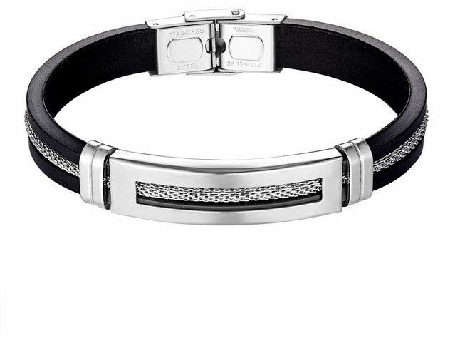 Men's Health Bracelet Stainless steel silicon
