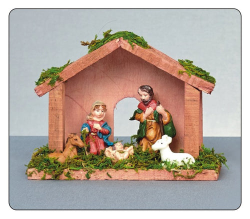 Premier Mini 15cm Traditional Wooden Christmas Nativity