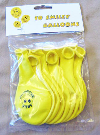 Smiley Balloons Pack of 10
