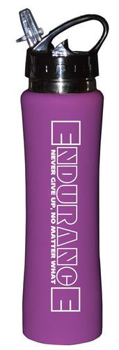 Sports Thermos Bottle - Coated Stainless Steel - Endurance - Purple - 17oz