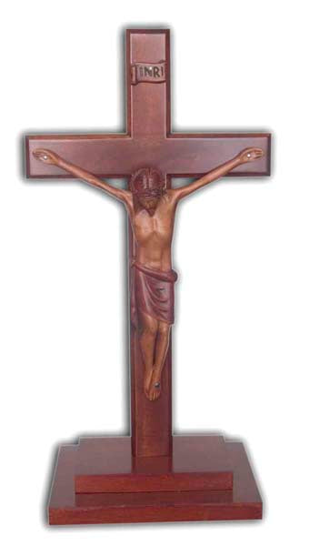 Cross With Corpus Stepped Base 30cm