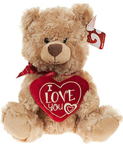 "10"" Soft Plush Teddy Bear Holding I Love You Heart Valentines Gift"