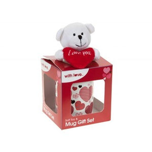 Love Plush Bear In 11oz Mug Gift Set