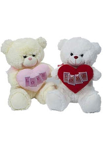 12INCH GEORGIE LOVE BEAR   CREAM
