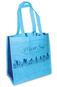 Eco Tote Bag. Reusable Shopping Bag , 12.5in X 6in X 12in. - I Will Sing