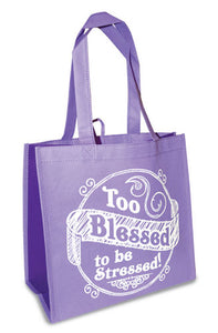 Eco Tote Bag. Reusable Shopping Bag , 12.5in X 6in X 12in. - Too Blessed
