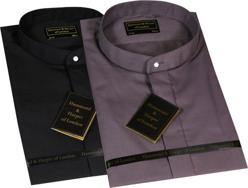 Men Long Sleeves Tunic Collar Clerical Shirt (Colour Options Available)