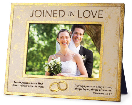 Photo Frame - Joined In Love - Wedding Ring Detail - 10.25in X 8.25