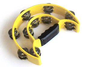 Yellow Double Half Moon Tambourine