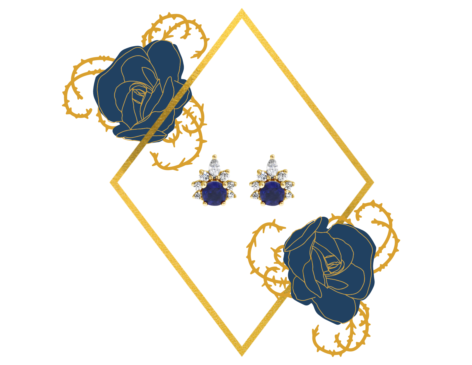 ava sapphire earrings mother's day
