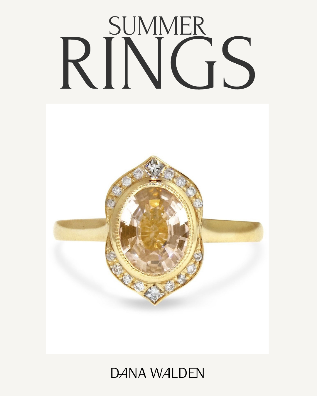 Summer Engagement Rings 2021- Athena Champagne Sapphire engagement ring