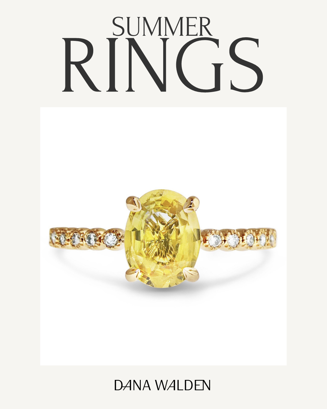 Yellow sapphire engagement ring perfect for summer proposal
