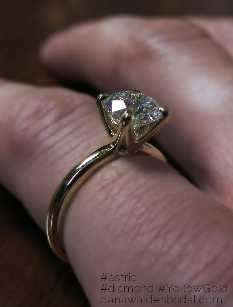 ASTRID diamond solitaire engagement ring