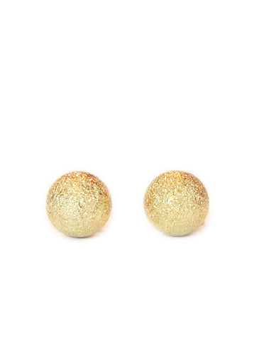 Gold Diamond Dust Studs by Dana Walden Jewelry