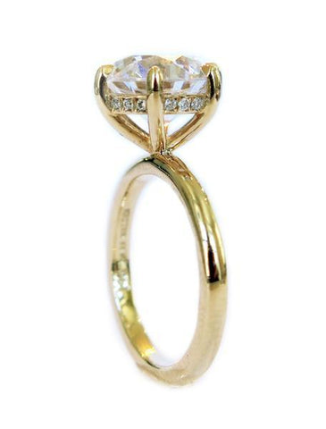 Gracie solitaire ring with secret diamonds by Dana Walden Jewelry