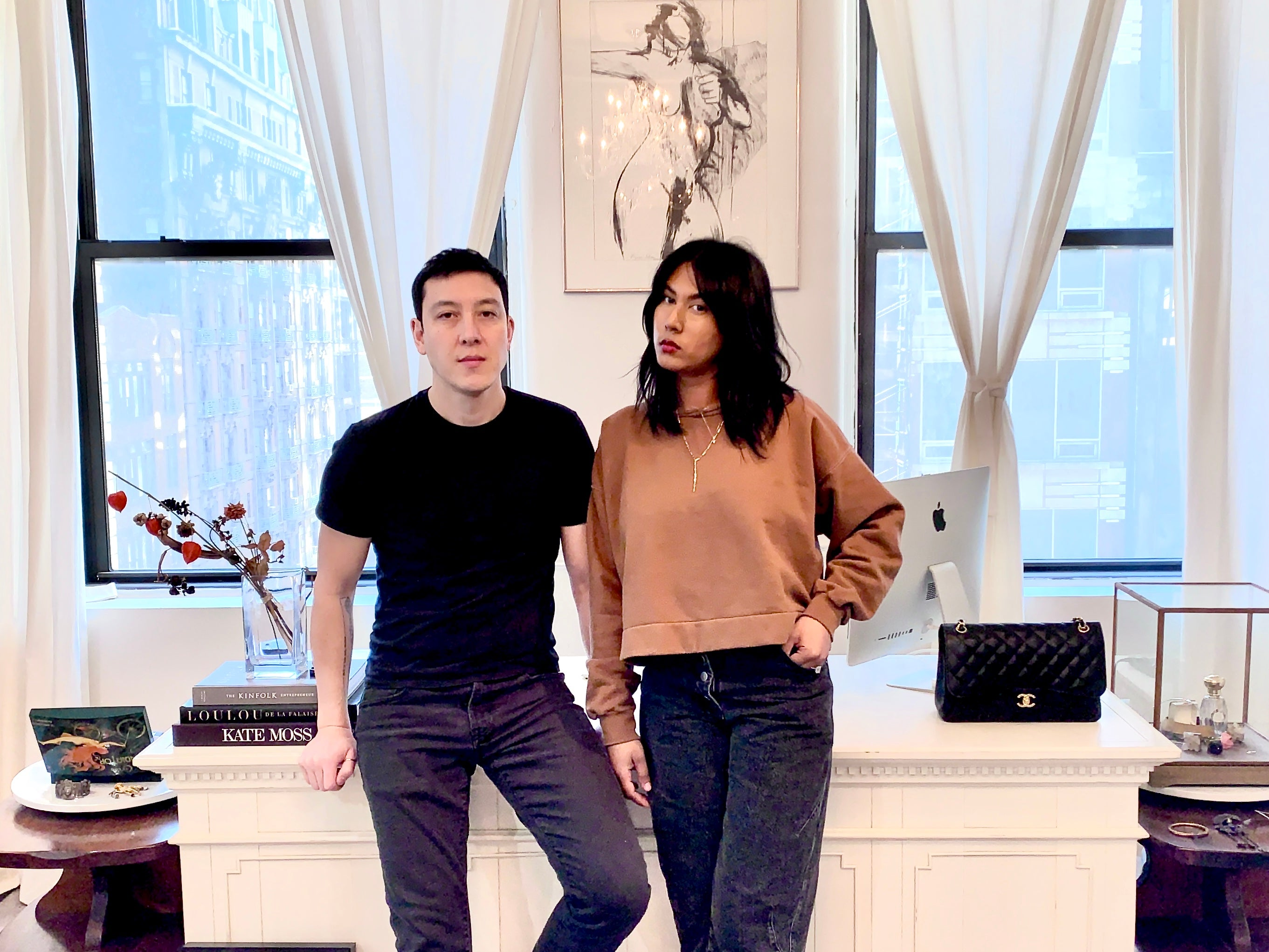 Dana Chin and Rad Chin in their Fifth Ave Studio
