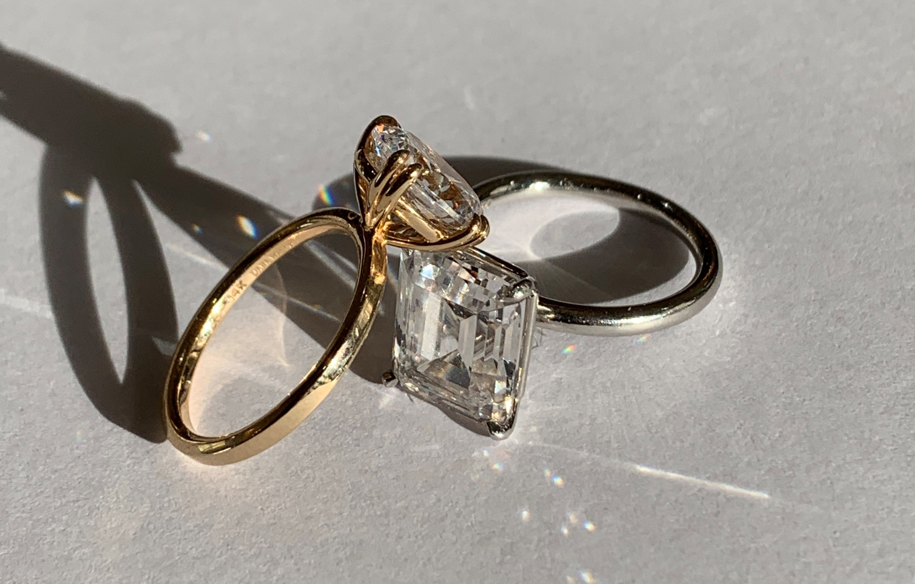Diamond Solitaire Engagement Rings by Dana Walden Jewelry