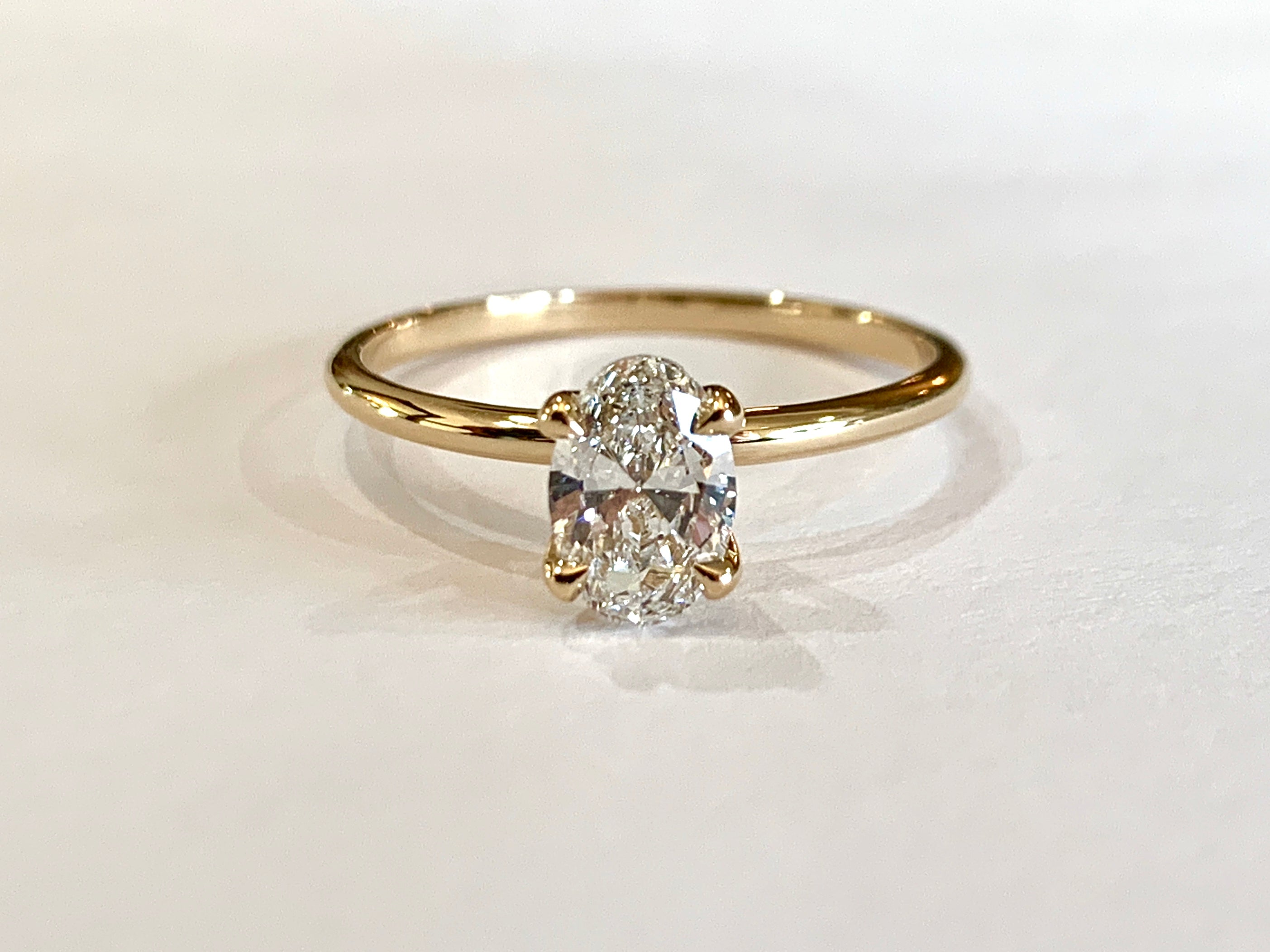 1 carat Oval engagement ring by dana walden jewelry