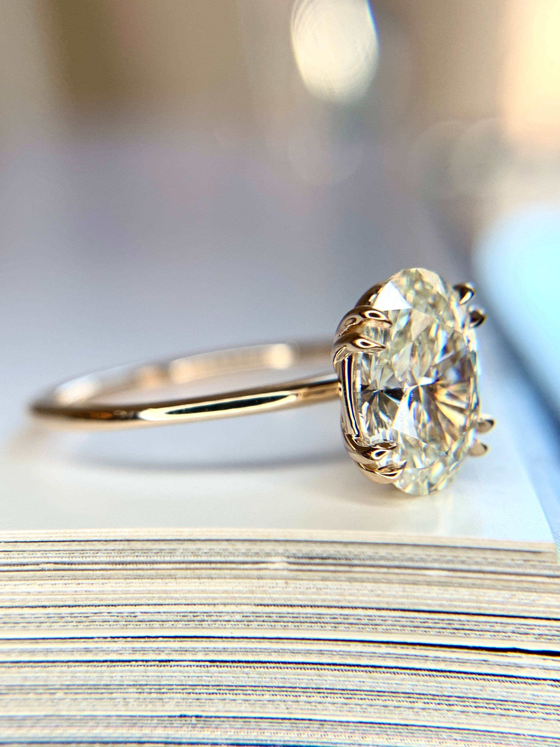 Jessa oval diamond solitaire engagement ring