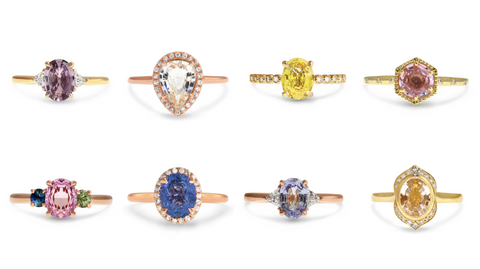 The Aura of Sapphire new designs from Dana Walden Bridal Jewelry - sapphire fine jewelry and engagement rings