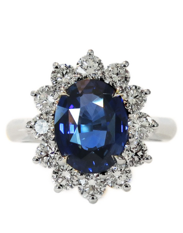 London sapphire engagement ring inspired by Kate Middleton and Lady Di