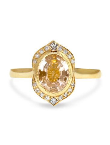 Dana Walden gold diamond and champagne fine jewelry engagement ring