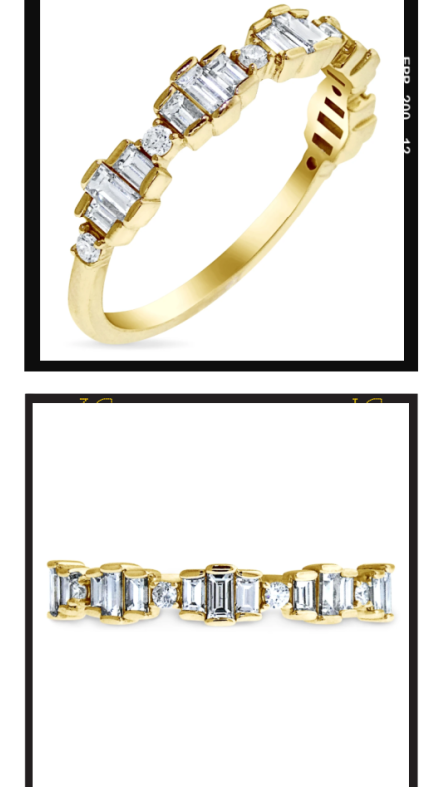 Cinzia Vertical Feature - New Engagement Bands from Dana Walden